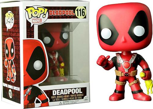 Funko POP! Marvel Deadpool Exclusive Vinyl Bobble Head #116 [Rubber Chicken, Damaged Package]