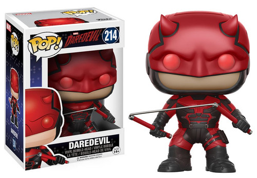 Funko Daredevil Netflix POP! Marvel Daredevil Vinyl Bobble Head #214 [With Helmet, Damaged Package]