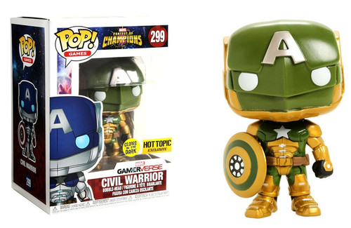 Funko Marvel Gamerverse Contest of Champions POP! Games Civil Warrior Exclusive Vinyl Bobble Head #299 [Glow-in-the-Dark, Damaged Package]