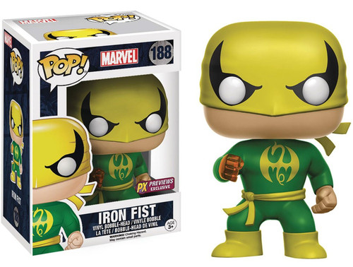 Funko POP! Marvel Iron Fist (Classic) Exclusive Vinyl Bobble Head #188 [Green Costume, Damaged Package]
