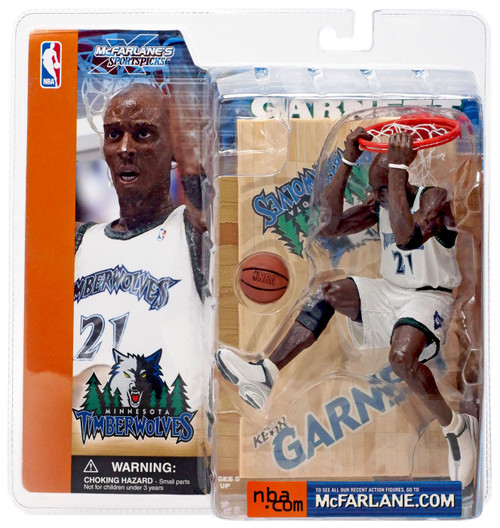 McFarlane Toys NBA Minnesota Timberwolves Sports Picks Series 1 Kevin Garnett Action Figure [White Jersey]