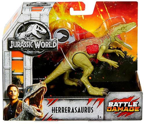 Jurassic World Fallen Kingdom Battle Damage Herrerasaurus Exclusive Action Figure