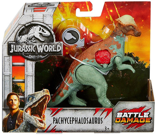 Jurassic World Fallen Kingdom Battle Damage Pachycephalosaurus Exclusive Action Figure