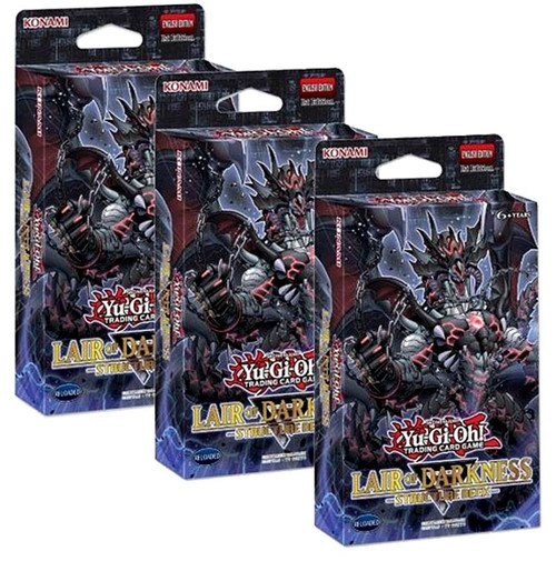 YuGiOh Trading Card Game Lair of Darkness LOT of 3 Structure Decks