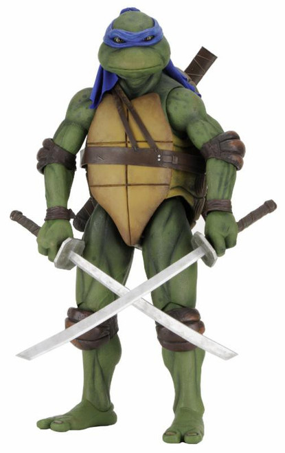NECA Teenage Mutant Ninja Turtles Quarter Scale Leonardo Action Figure [1990 Movie, Damaged Package]