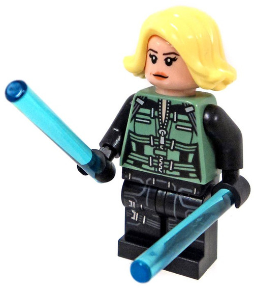 LEGO Marvel Avengers Infinity War Black Widow Minifigure [Blonde Hair And 2 Batons Loose]
