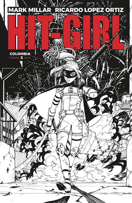 Image Comics Hit-Girl #3 Comic Book [Black & White Reeder Variant]