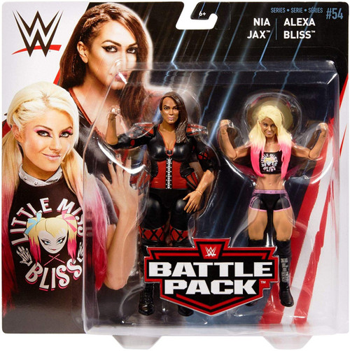 WWE Wrestling Battle Pack Series 54 Alexa Bliss & Nia Jax Action Figure 2-Pack