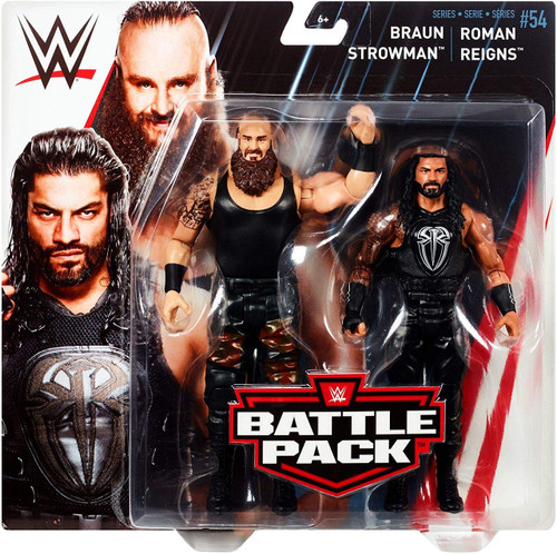 WWE Wrestling Battle Pack Series 54 Braun Strowman & Roman Reigns Action Figure 2-Pack