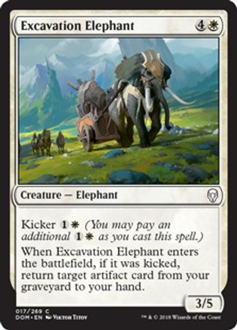 MtG Dominaria Common Excavation Elephant #17