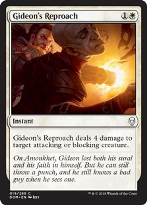 MtG Dominaria Common Foil Gideon's Reproach #19