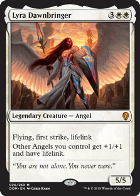 MtG Dominaria Mythic Rare Lyra Dawnbringer #26