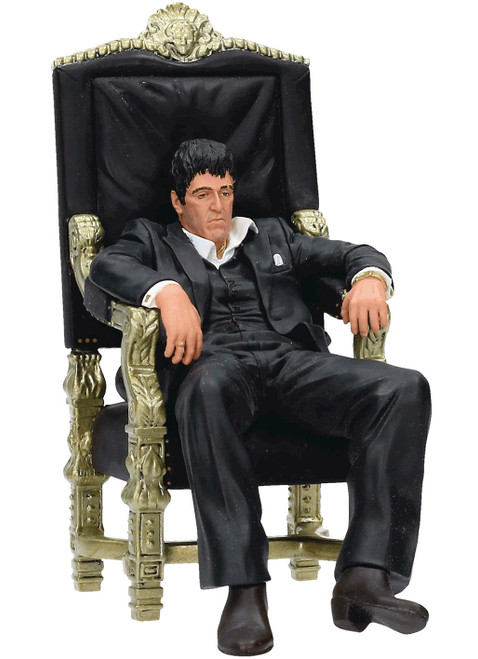 Scarface Tony Montana 7-Inch Statue [Sitting in Chair]
