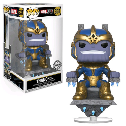 Funko Avengers Infinity War POP! Marvel Thanos Exclusive Vinyl Bobble Head #331 [On Throne, Super-Sized]