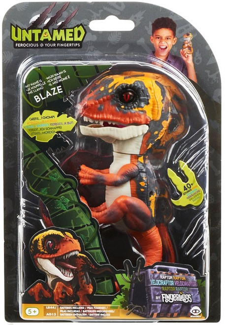 Fingerlings Untamed Dinosaur Blaze the Velociraptor Figure [Orange]