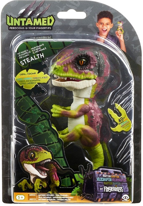 Fingerlings Untamed Dinosaur Stealth the Velociraptor Figure [Lime Green]