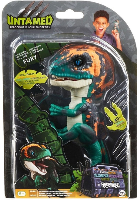 Fingerlings Untamed Dinosaur Fury the Velociraptor Figure [Greenish Blue]