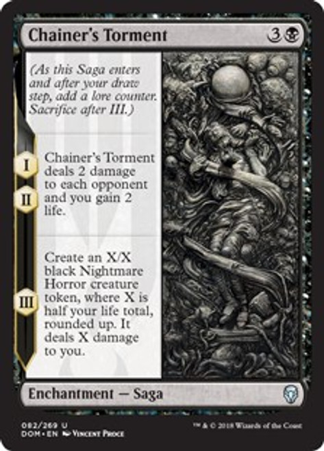 MtG Dominaria Uncommon Chainer's Torment #82
