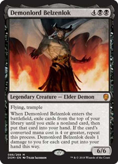 MtG Dominaria Mythic Rare Demonlord Belzenlok #86