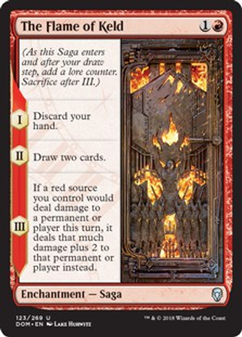 MtG Dominaria Uncommon Foil The Flame of Keld #123