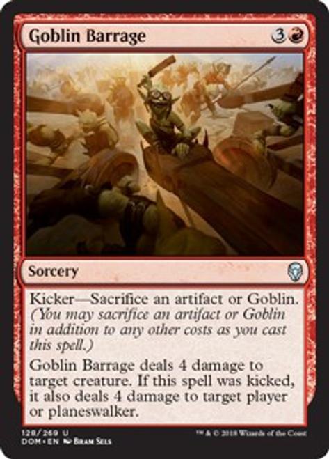 MtG Dominaria Uncommon Goblin Barrage #128