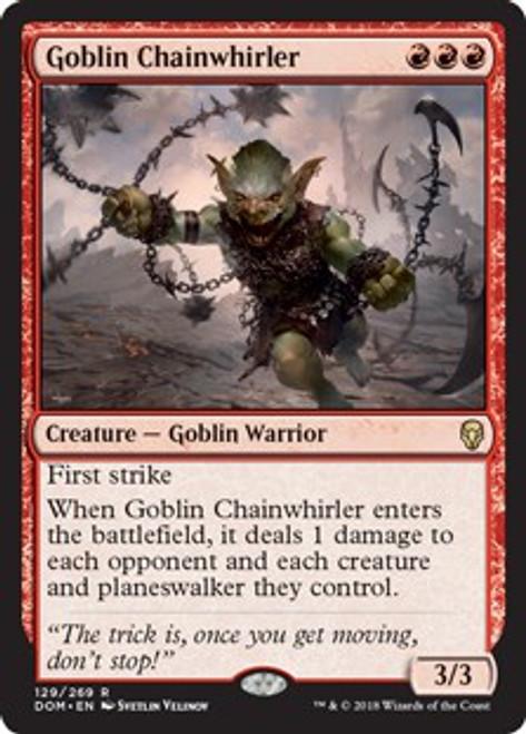 MtG Dominaria Rare Goblin Chainwhirler #129