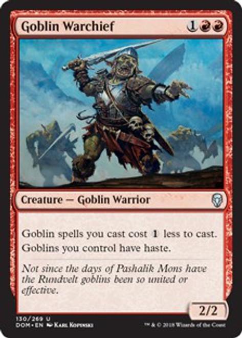 MtG Dominaria Uncommon Foil Goblin Warchief #130