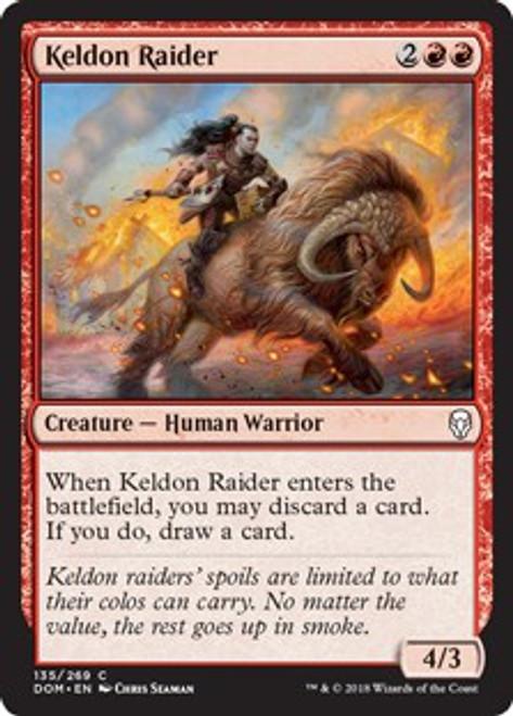 MtG Dominaria Common Keldon Raider #135