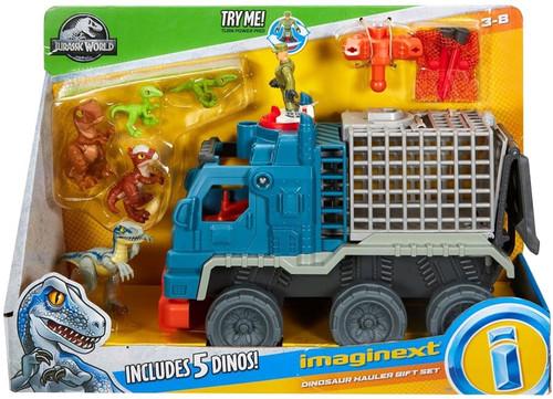 Fisher Price Jurassic World Imaginext Dinosaur Hauler Gift Set Playset