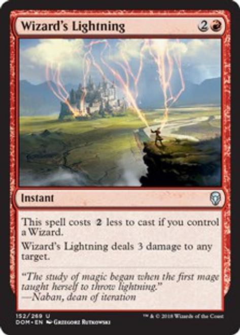 MtG Dominaria Uncommon Wizard's Lightning #152