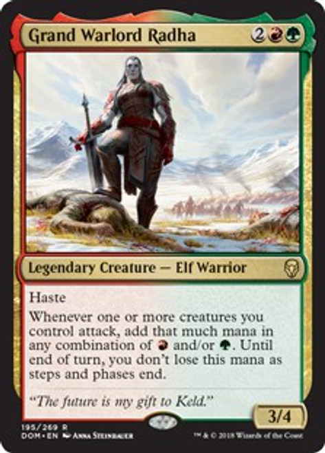 MtG Dominaria Rare Foil Grand Warlord Radha #195