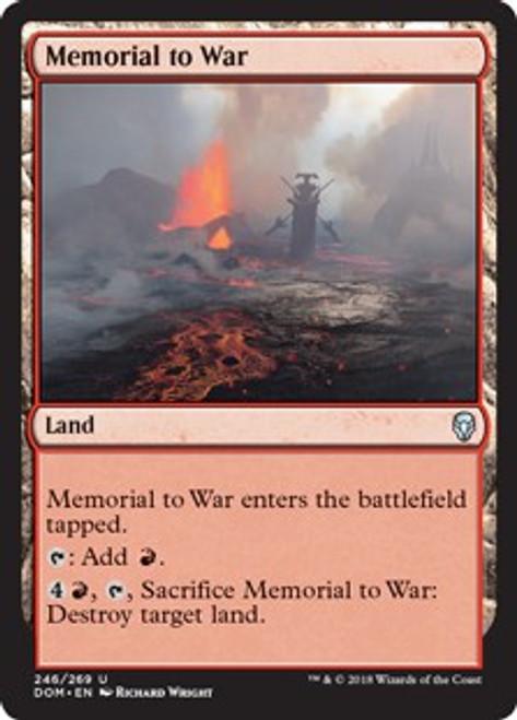 MtG Dominaria Uncommon Memorial to War #246