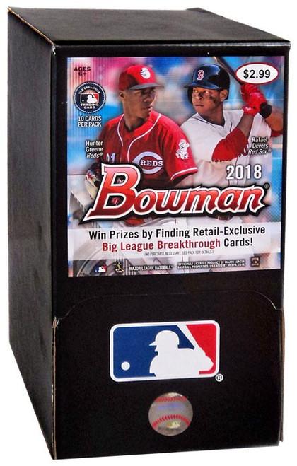 MLB Topps 2018 Bowman Baseball Trading Card Gravity Feed Box [36 Packs]