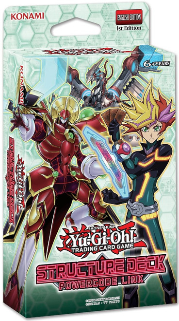 YuGiOh Trading Card Game Powercode Link Structure Deck