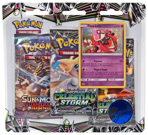 Pokemon Trading Card Game Sun & Moon Celestial Storm Tapu Lele Special Edition [3 Booster Packs, Promo Card & Coin]