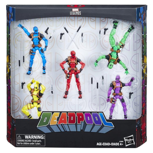 Marvel Deadpool Rainbow Squad Exclusive Action Figure 5-Pack [Solo, Terror, Slapstick, Foolkiller & Deadpool]