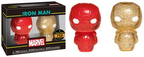 Funko Marvel Hikari XS Japanese Vinyl Iron Man Vinyl Figure 2-Pack [Red & Gold Glitter]