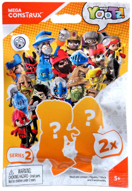 Mega Construx World of Yootz! Series 2 Mystery Pack [2 Mini Figures Per Pack!]