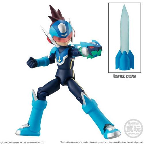 Mega Man Legends Shokugan 66 Action Series 2 Mega Man 2.6-Inch Trading Figure [Mega Man Star Force]