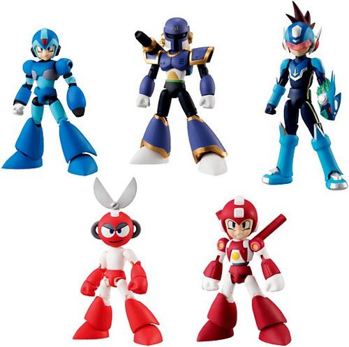Mega Man Legends Shokugan 66 Action Series 2 Set of 5 Trading Figures
