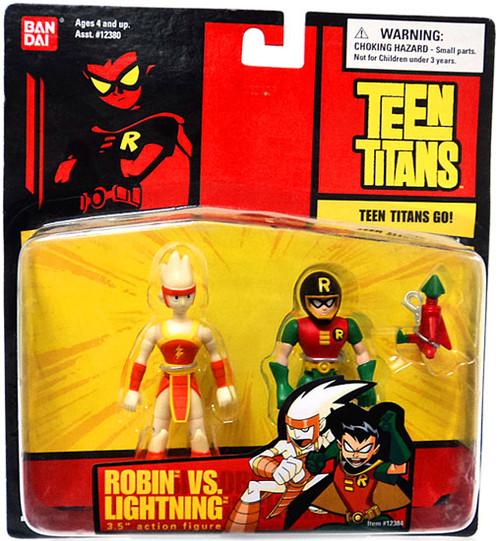 Teen Titans Go! Robin vs. Lightning Action Figure 2-Pack