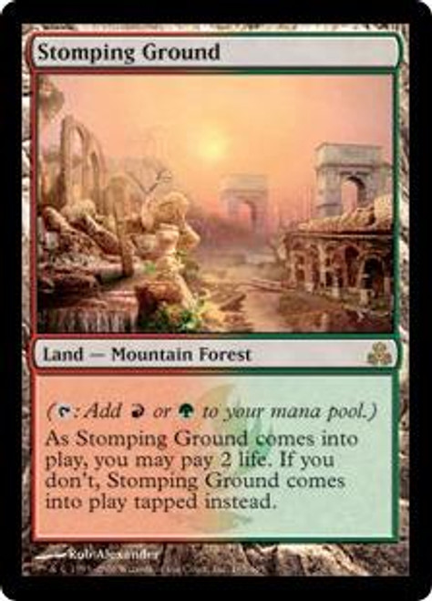 MtG Guildpact Rare Stomping Ground #165 [Played]