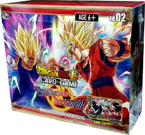Dragon Ball Super Collectible Card Game Series 2 World Martial Arts Tournament Theme Booster Box DBS-TB02 [24 Packs]