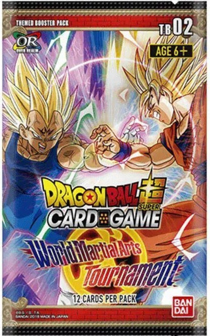 Dragon Ball Super Collectible Card Game Series 2 World Martial Arts Tournament Theme Booster Pack DBS-TB02 [12 Cards]