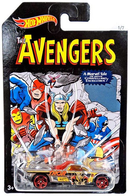 Hot Wheels Marvel The Avengers Bedlam Die-Cast Car #1/7 [Thor]
