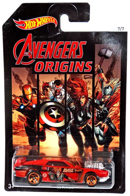 Hot Wheels Marvel The Avengers Rivited Die-Cast Car [Black Widow]
