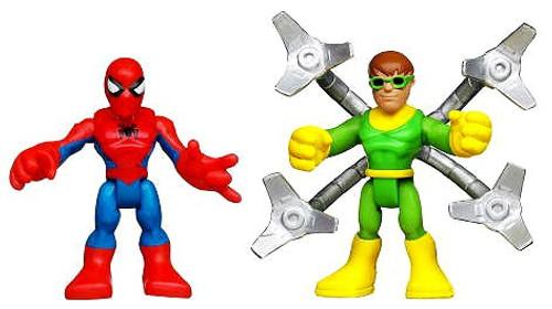 Marvel Playskool Heroes Super Hero Adventures Spider-Man & Doc Ock Action Figure 2-Pack [Damaged Package]