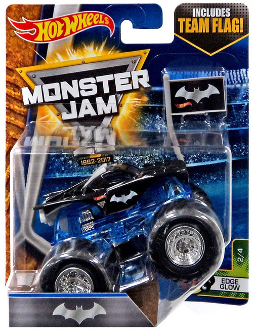 Hot Wheels Monster Jam 25 Batman Die-Cast Car #2/4 [Edge Glow, Damaged Package]