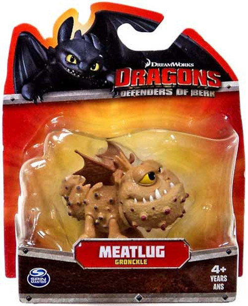 How to Train Your Dragon Dragons Defenders of Berk Meatlug 3-Inch Mini Figure [Gronckle, Damaged Package]
