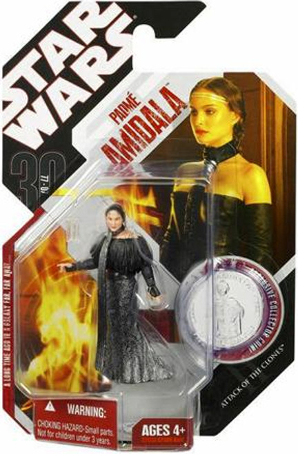 Star Wars Attack of the Clones 2007 30th Anniversary Wave 9 Padme Amidala Action Figure #56 [Black Leather Outfit]